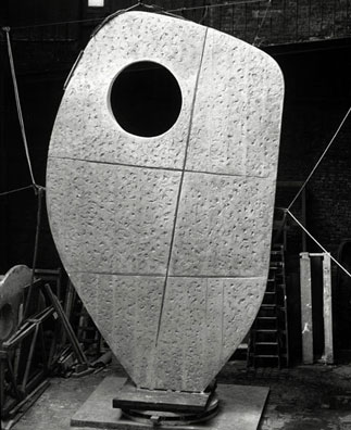 The plaster for single form at the morris singer foundry photograph